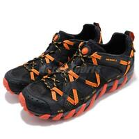 Merrell Waterpro Maipo Black Hot Coral Orange Men Outdoors Hiking Shoes J12627