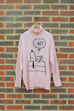 "Chinti and Parker Meets PEANUTS Ladies Snoopy ""So?"" 100% Cashmere Jumper Small &"