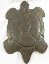 "New listing Antique Cast Iron~ Turtle~ Hot Plate,Trivet, Folk Art, Garden Ornament~Rare~13"""