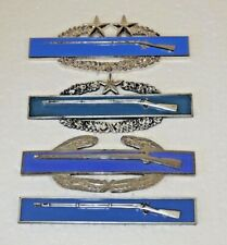 New listing Lot Of Four Us Army Combat Infantry Badges Cib All Different Clutch Back Ex Cond