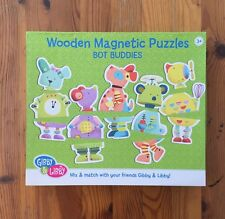 C.R. Gibson - Wooden Magnetic Puzzles Bot Buddies by Gibby & Libby