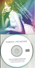 FLORENCE & THE MACHINE Say My Name Spectrum CALVIN HARRIS REMIX PROMO CD single