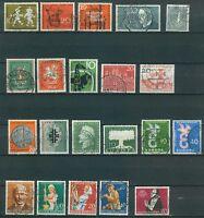 Bund Jahrgang 1958 - Auswahl aus Michel Nr. 281 - 301 , o , gestempelt