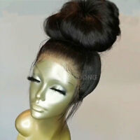 Pre Plucked Natural Indian Human Hair Full Lace Wig 360 Lace Front Wig Off Black