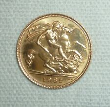 More details for elizabeth ii - half gold sovereign 1982, 22 carat gold 3.99g