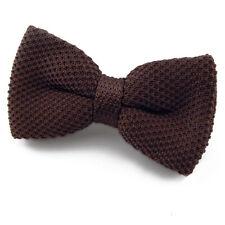 NOEUD PAPILLON tricot marron chocolat pour homme - Men brown knit Bowtie