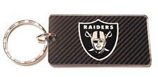 Oakland Raiders Acrylic Keychain NFL Team Color Logo Carbon Printed Key Ring