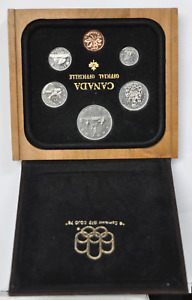 1972 Canada Proof Like Specimen Set 6 Coin Wooden Box