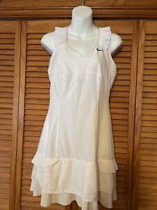 Nike Womens Tennis Dress White Medium