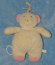 Luv n' Care Bear Musical Pull String Crib Toy Yellow Pink Feet Music Box Broken