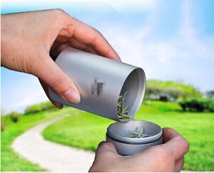 Titanium Tea Cans Condiment Case Container Tea box watch Cylinder Box Travel
