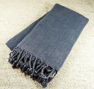 mOrganics Beauty - Stonewashed Luxury Hamam Peshtemal & Towel - Black 90x170cm