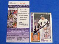 RICH GOSSAGE SIGNED BASEBALL CARD ~ 1984 TOPPS #670 ~ JSA L69296 ~ AUTOGRAPH