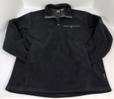 White sierra mens sherpa II pullover black size medium