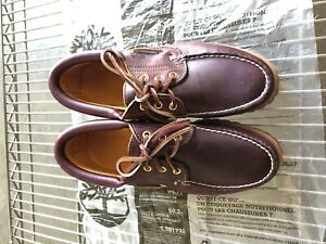 Timberland Classic 3 Eye Men's Shoe Burgundy/brown Hommes Size 8M New