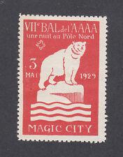 France Poster Stamp MAGIC CITY NORTH POLE 1929 POLAR BEAR