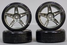 RC 1/10 Tamiya OEM CAR DRIFT Tires Wheels Rims TOYOTA 86 BRZ 5 STAR (4pcs)