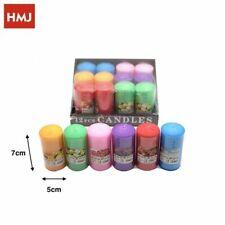 Set 12 Pezzi Candele Cera Profumate Varie Fragranze Colorate 5x7cm hmj