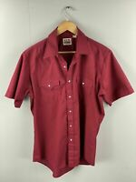 Fly Cattlemen Vintage Women's Short Sleeve Shirt - Pearl Snap Buttons - Size 16
