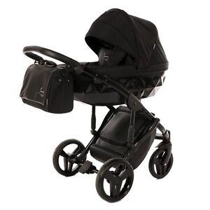 Junama Diamond  All Black Baby Pram Stroller Pushchair Travel System