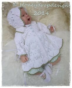 A5 PAPER KNITTING PATTERN DAISY For Reborn/Baby 0-3