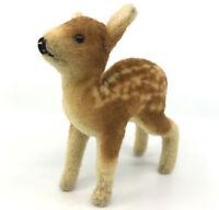 Steiff Fawn Deer Wool Plush 17cm 7in 1949 -53 no ID Glass Eyes Vintage