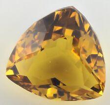 LARGE 17mm TRILLIANT-FACET NATURAL BRAZILIAN GOLDEN CITRINE GEMSTONE (APP £344)