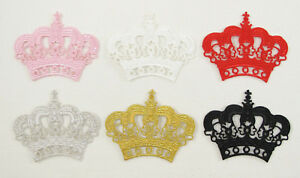 ROYAL CROWN Embroidered Iron On sew On Patch KING QUEEN  PRINCESS