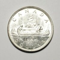 Canada 1961 Silver $1.00 One Dollar Coin
