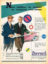 PUBLICITE ADVERTISING 015  1957  BAYARD  pret à porter homme veste DEAUVILLE