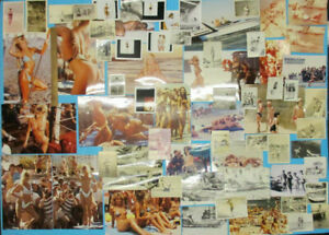 VINTAGE 1950s-80s BEAUTY MEDITERANEAN WOMEN SWIMSUIT BEACH SUMMER 66X PHOTOS LOT