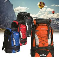 80L Waterproof Sport Backpack Rucksack Travel Daypack Outdoor Camping Hiking