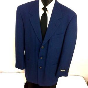 NEW Pierre Cardin Men's NAVY BLUE Sport Coat 3-BTN Jacket LIGHT Wool Blazer 40 R