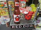 RED DOG LARGE LITEUP SIGN WITH DOGS FACE THRU GALVANIZED FENCE +BOTTLE MILLER NM