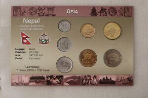 NEPAL COIN SET WITH COA B38 #27