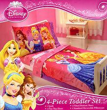 Disney Princess  Fairy Tale Moment  4-Pc Toddler Bedding Belle Cinderella Aurora