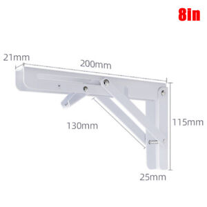 Folding Adjustable Wall Mounted Durable Bearing Shelf Bracket DIY Table Be P5