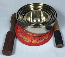Hand Casted Tibetan Kasha Singing Bowl 7 Bowls Chakra Set