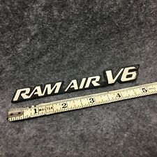 1999-2005 Pontiac Grand Am GT RAM AIR V6 Fender Emblem White Fits LH Or RH 35411