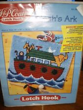 "NEW J & P Coats Latch Hook Kit NOAH'S ARK #88968 30"" X 24"""