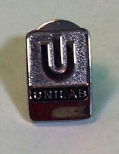 Vintage Terryberry Unilab Silver Tone Collectible Pinback Tie Tack