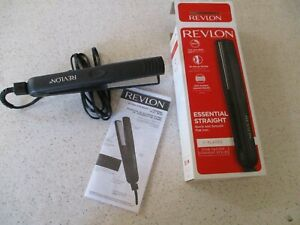 """REVLON, QUICK AND SMOOTH 1"""" FLAT IRON, RVST2043, ESSENTIAL STRAIGHT, NEW IN BOX"""