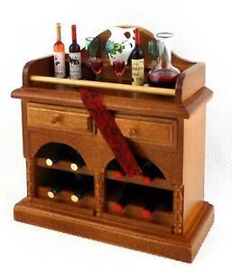 Dolls House Small Drinks Bar Cabinet Dresser Miniature Reutter Dining Furniture