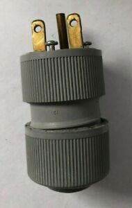 NEW G.E. GED0611-H HOSPITAL GRADE PLUG STRAIGHT MALE 15 AMP 250 VOLT NEMA 6-15P