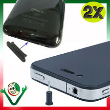 2X TAPPI tappini ANTIPOLVERE per Apple iPad iPod iPhone