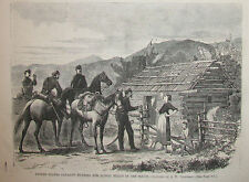 UNITED STATES CAVALRY HUNTING STILLS IN THE SOUTH MOONSHINE HARPER'S WEEKLY 1867