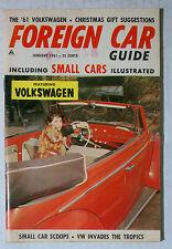 FOREIGN CAR GUIDE VW VOLKSWAGEN MAGAZINE 1961 JANUARY BUG BUS KARMANN BEETLE