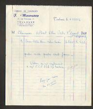 """TOULOUSE (31) USINE de CHAUSSURES """"F. MARCUZZO"""" en 1952"""