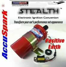 POSITIVE EARTH Electronic ignition for Lucas 25D/DM2 Distributor + Sports Coil
