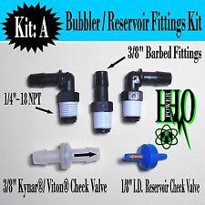 """3/8"""" Barb Fittings,3/8"""" Kynar® Check Valve: Reservoir Tank Fittings, HHO Bubbler"""
